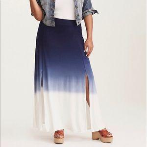 EUC, size 2 Dip Dye Slit Jersey Maxi Skirt